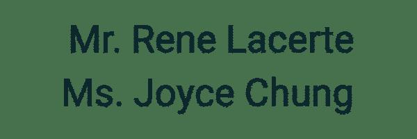 Rene Lacerte and Joyce Chung
